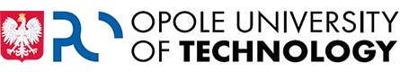 The emblem of Poland together with the logotype of Opole University of Technology